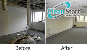 builders cleaning before and after
